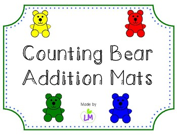 Counting Bear Addition Mats - Sums to 10