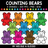 Counting Bear Clipart