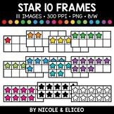 Star Ten Frame Clipart