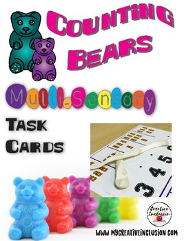 Counting Bear Multi-Sensory Task Cards - Math for Special Education