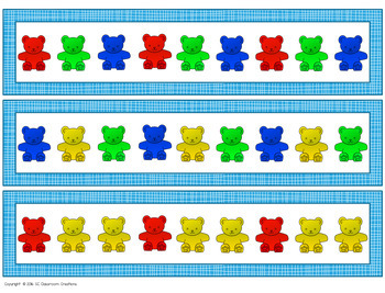 Counting Bear Pattern Cards (Task Cards)