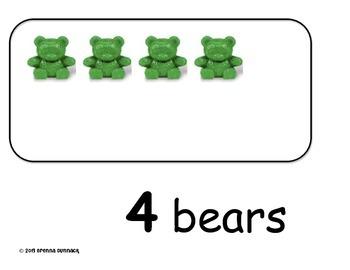 Counting Bears 0-10 Mats