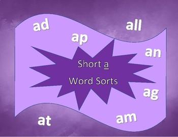 Short a Word Sorts