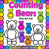 Counting Bears Clip Art   Candy Bears