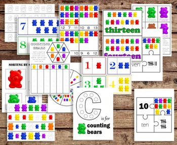 Counting Bears Activities