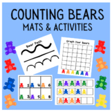 Counting Bears Mats and Activities - Sorting, Patterns, 10s Frames, Graphing