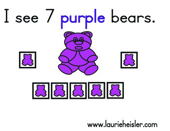 Counting Bears Activity Cards