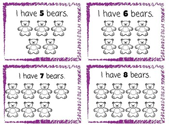 Counting Bears || Activity Cards