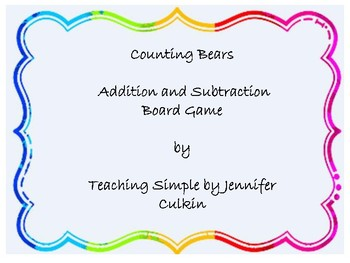 Counting Bears Addition and Subtraction Game