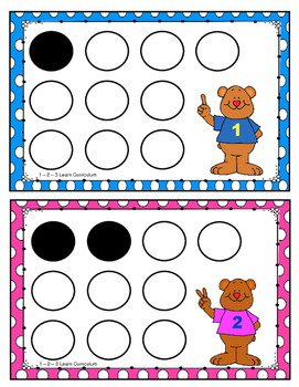 Counting Bears Cap Counting Activity Cards