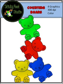 Counting Bears Clip Art For Math