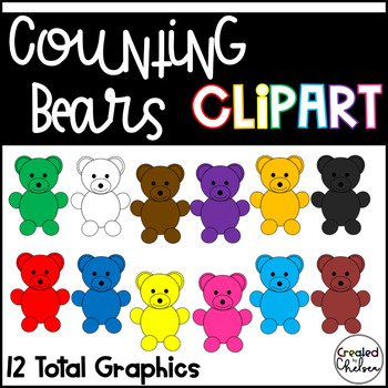 Counting Bears {Clipart for Commercial Use}