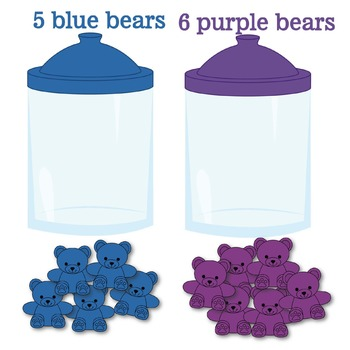 Counting Bears Color Jars