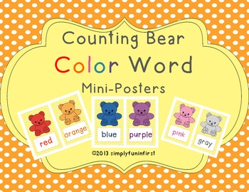 Counting Bears Color Word Mini-Posters {FREE}