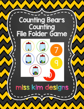 Counting Bears Counting File Folder Game for Special Education