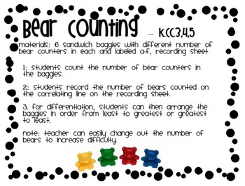 Counting Bears Game