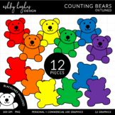 Counting Bears Clipart {A Hughes Design}