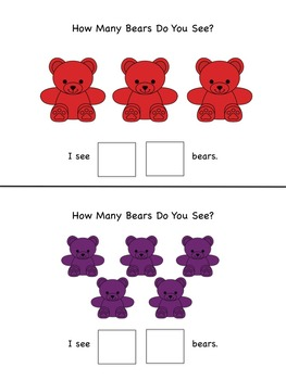 Counting Bears:  How Many? What Colour?