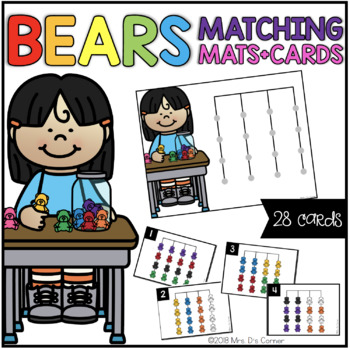 Counting Bears Matching Mats and Activity Cards (Patterns, Colors, and Matching)