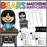 Counting Bears Matching Mats and Activity Cards (Patterns,