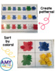 Counting Bears Math Centers:  Patterns & Sorting Skills