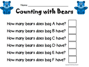 Counting Bears Math Combo