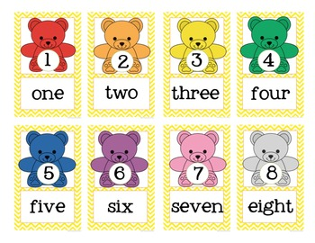 Counting Bears Number Word Mini Posters {FREE}