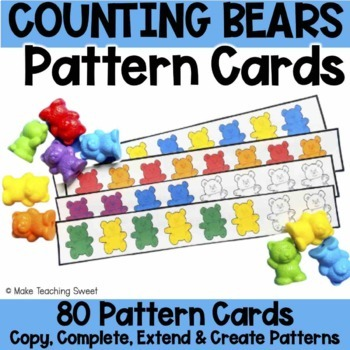 Counting Bears Pattern Cards