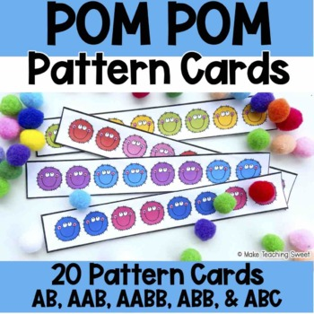 Counting Bears Pattern Cards Freebie!