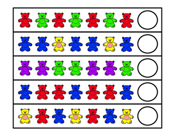 Counting Bears Pattern Strips