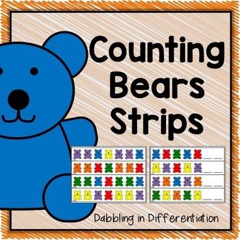 Counting Bears Strips
