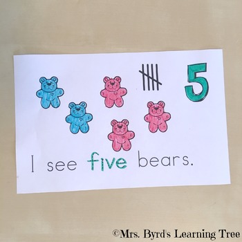 Emergent Reader - Counting Bears: Student made  Counting Book