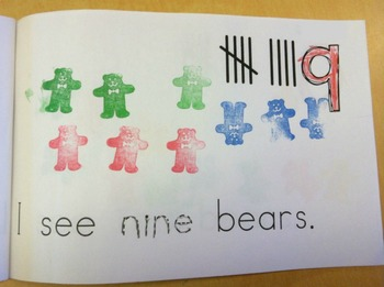 Emergent Reader - Number and Counting book - Counting Bears