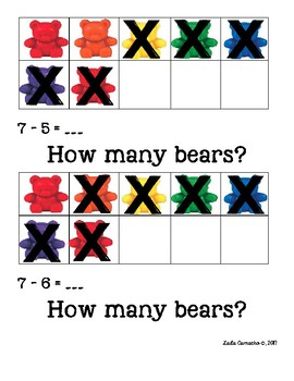 Counting Bears Subtraction