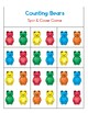 Counting Bears Work Mats and Clip Cards for Numbers 1-20