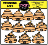 Counting Bees Clip Art Bundle  {Educlips Clipart}