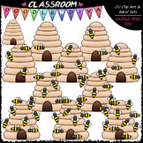 (0-10) Counting Bees Clip Art - Counting & Math Clip Art & B&W Set