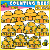 Counting Bees Clip Art Set