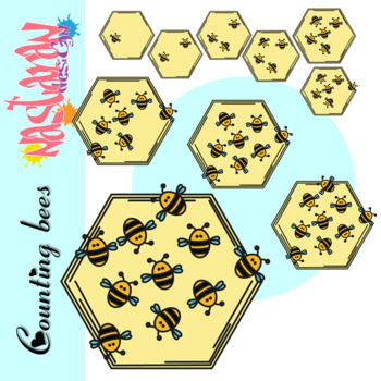 Counting Bees Clipart
