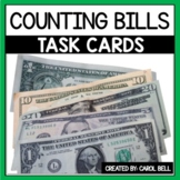 Counting Money Task Cards Counting Bills