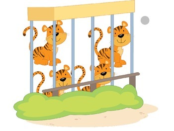 Interactive Counting Notebook: Zoo Animals