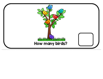 Counting Birds Interactive Adaptive books (colored and b/w)