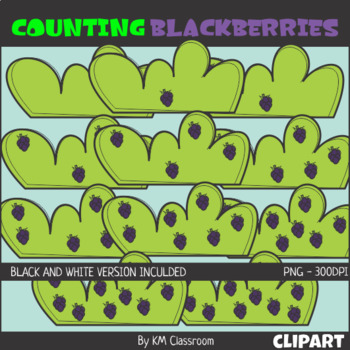 Counting Blackberries ClipArt