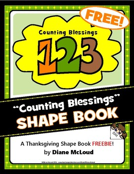 """Counting Blessings 1-2-3"" Shape Book FREEBIE!"