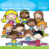 Counting Block / Cube Stick Kids Clipart Set