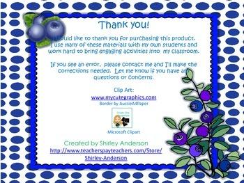 Counting Blueberries (Freebie)