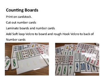 Counting Boards (Match number to quantity)