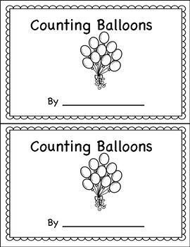 Counting Book 0-10 Ballloons