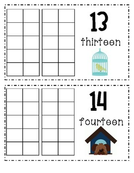 Counting Book 10-20 Pet Theme