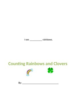 Counting Book: Rainbows and Clovers St. Patrick's